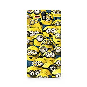 Motivatebox- Minion Cluster Oneplus Three (3) cover -Matte Polycarbonate 3D Hard case Mobile Cell Phone Protective BACK CASE COVER. Hard Shockproof Scratch-