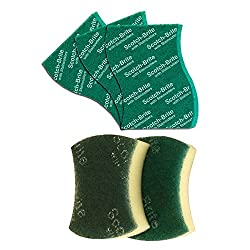Scotch-Brite Scrub Sponge Large (Pack of 2) and Scrub Pad Large (Pack of 3)