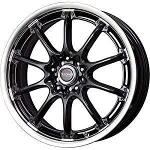 Drag DR 47 Gloss Black Wheel with Machined Lip Finish (17×7″/4x100mm)