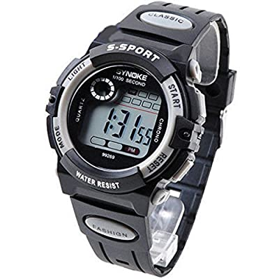 GREY Multifunction Waterproof Child/Boy's/Girl's Sports Electronic Watch Watches