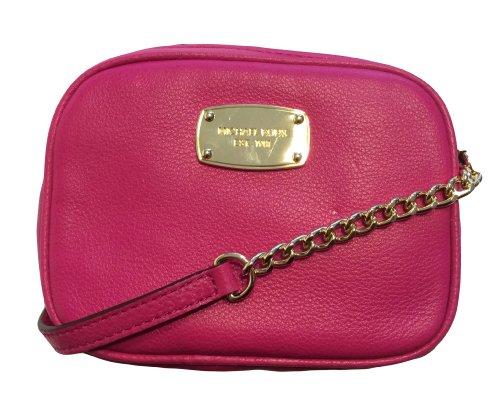 Michael Kors Hamilton Sm Crossbody Raspberry Leather