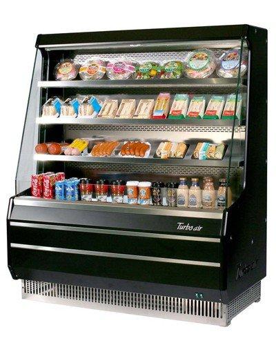 Turbo Air Tom-40Mb 39-In Vertical Open Display Merchandiser W/ 3-Shelves, Black, Each