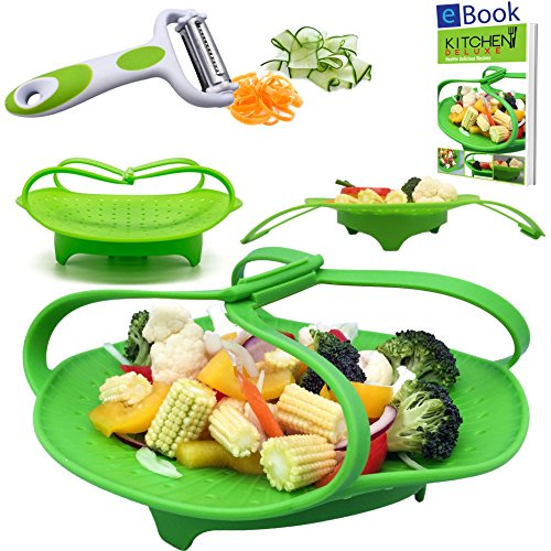 Premium Silicone Vegetable Steamers Basket - 8