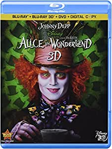 Alice in Wonderland [Blu-ray 3D + Blu-ray + DVD + Digital Copy] (Bilingual)
