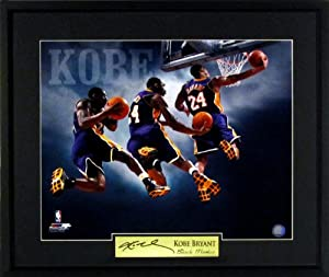 Kobe Bryant 16x20 Los Angeles Lakers Photograph Signature Series Framed by Sports+Gallery+Authenticated