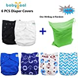 Babygoal Baby Adjustable Reuseable Cloth Diaper Cover For Fitted Diapers And Prefolds 6pcs 6dcf02