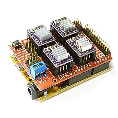 3d Cam Cnc V3 Shield Uno R3 Arduino Compatible Board 4 Pcs Ti Drv8825 Stepstick Stepper Drivers