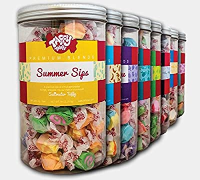Taffy Town Gourmet Salt Water Taffy Gift Jars, 18 Ounces