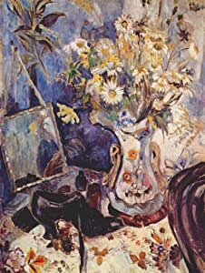 Oil painting - 12 x 16 inches / 30 x 41 CM - Natalia Goncharova - Still life with shoe and mirror