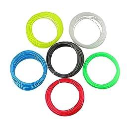 [PLA 3D Filament Material - 6Colors] - iEGrow 1.75mm PLA 3D Printing Filament Material 30G 32 Feet Lengths 3D Print Ink in 6 Different Colors for 3D Printer Pen