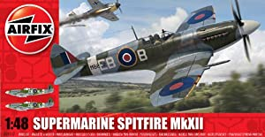 Airfix A05117 Supermarine Spitfire MkXII 1:48 Scale Military Aircraft Series 5 Model Kit from Hornby