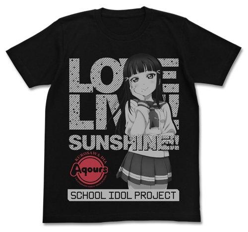 ラブライブ!サンシャイン!! 黒澤ダイヤ Tシャツ ブラック Lサイズ