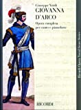 Partitions classique RICORDI VERDI G. - GIOVANNA D ARCO - CHANT ET PIANO Voix solo, piano...