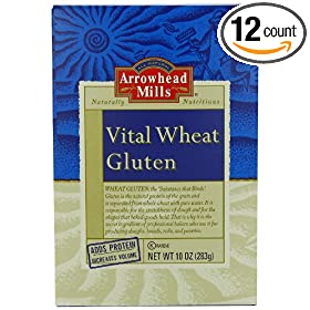 Arrowhead Mills Vital Wheat Gluten, 10 Ounce Boxes (Pack of 12)