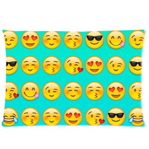 Emojis Rectangle Pillowcase Throw 20*30 inchesx 26(Twin Sides)