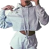 Damen Hoodie Xinan Sweatshirt Pullover Crop Top Coat Sport...