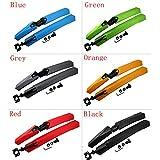 Logas-Fahrradschutzblech-fr-Vorder-und-Rckseite-fr-Mountainbikes-und-Fahrrder-erhltlich-in-Blau-Grn-Grau-Orange-Rot-Schwarz-1-Set