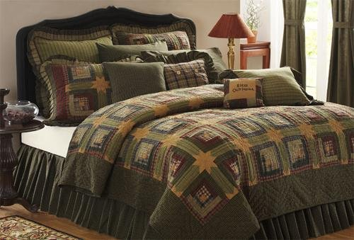 6 Pc Tea Cabin Queen Quilt Set