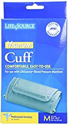 LifeSource UA-280 Blood Pressure Monitor Cuff,  Medium (9.4\