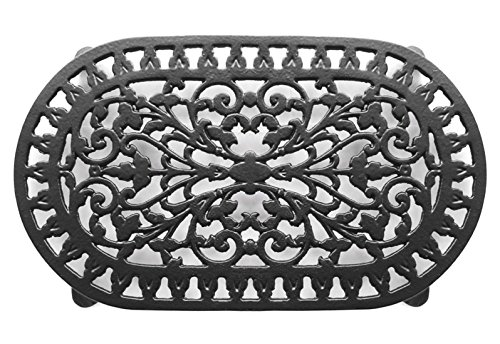 Vintage Cast Iron Trivet-VICTOR ROBERT WELCH PAN STAND POT STAND DOUBLE ~ BLACK ~ VCW315 (6 Qt Dough Bucket compare prices)