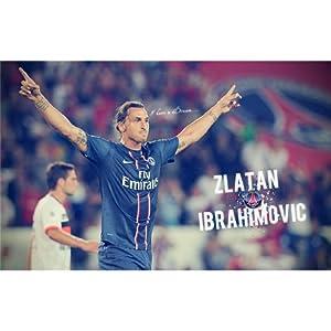Zlatan Ibrahimovic (38inch x 24inch / 95cm x 60cm) Silk Print Poster - Seide Plakat - C82053
