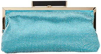 Melie Bianco D2538-Jamie Clutch,Teal,One Size