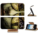Robots Artwork Realistic Humanoid Figure Apple iPhone 5 / 5S Flip Cover Case with Card Holder Customized Made to Order Support Ready Premium Deluxe Pu Leather 5 3/16 inch (132mm) x 2 11/16 inch (68mm) x 9/16 inch (14mm) MSD iPhone 5 Professional Cases Touch Accessories Graphic Covers Designed Model Folio Sleeve HD Template Designed Wallpaper Photo Jacket Wifi 16gb 32gb 64gb Luxury Protector Wireless Cellphone Cell Phone