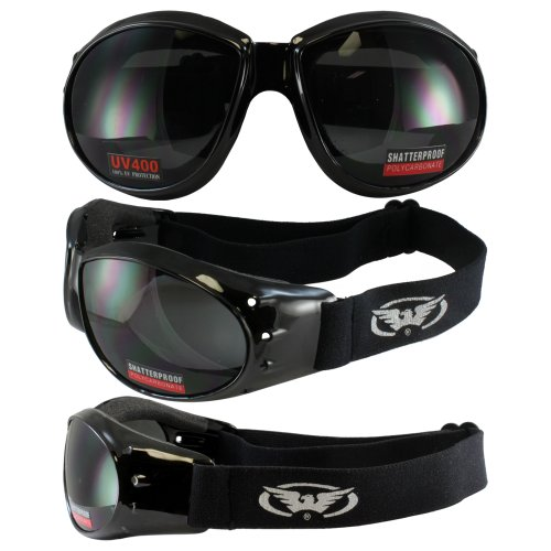 ELIMINATOR GOGGLES MOTORCYCLE PADDED EYEWEAR SMOKED TINT LENSES These Are Specially Made to Keep Dust And Wind Out Of Your Eyes