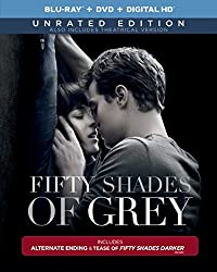 Fifty Shades of Grey -  (Unrated Blu-ray Edition + R- rated DVD + R- rated DIGITAL HD