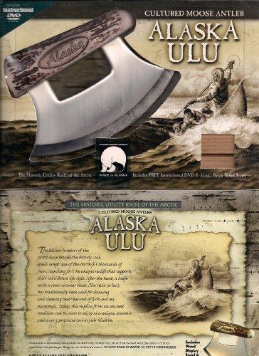 Alaska Ulu Knife Cultured Moose Antler Handle W/Dvd