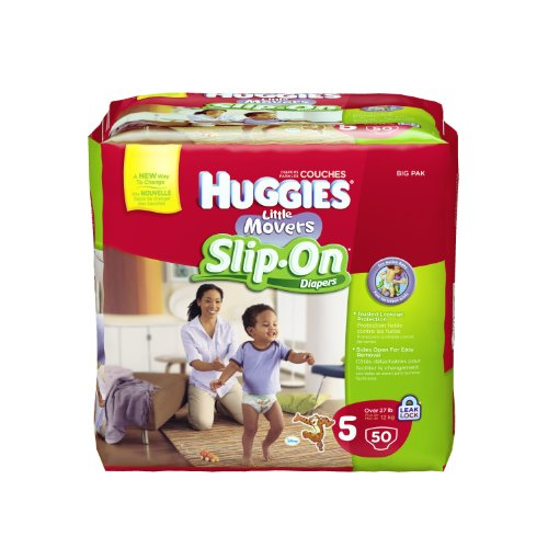 Hies Little Movers Slip-On Diapers, Step 5, 50 Count (Pack of 2)