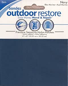 Outdoor Restore Pressure Sensitive Nylon Patches--Navy