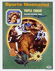 Buy Ron Turcotte SIGNED Sports Illustrated Print Secretariat AUTOGRAPHED - PSA DNA Certified -... by Sports Memorabilia