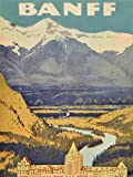 TRAVEL BANFF CANADA ROCKIES HOTEL MOUNTAIN FINE ART PRINT POSTER 30x40cm CC1936