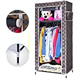 EMBROSS 2.3 Feet Folding Carbon Steel Collapsible Wardrobe Cupboard Almirah Easy Foldable Storage Rack Space Saving Collapsible Ultimate Cabinet   100 available at Amazon for Rs.1049