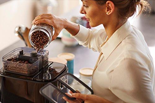 Philips hd7766 00 cafeti re filtre programmable noir et m tal avec broyeur - Cafetiere expresso avec broyeur integre ...