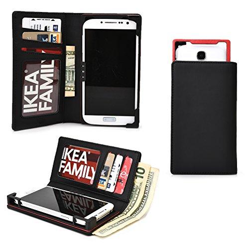 Cooper Cases(TM) PIX Samsung Galaxy S4 / CDMA, S5 Mini / Mini Duos スマートフォンウォレットケース(ブラック)(iOS/Android/Windows用デバイスに幅広く対応、傷や水はねに強い合皮、スライドフレームでカメラに簡単アクセス、カード入れ&ポケット、SIMカードホルダー付き紙幣入れ、飽きのこない洗練されたデザイン)