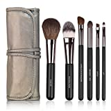 Docolor 6 Pieces Professional Makeup Brush Set Travel Foundation Blending Eyeshadow Eyebrow Lip Smokey Eye Brush Face Powder Brush Makeup Brushes Kit With Cosmetics Case