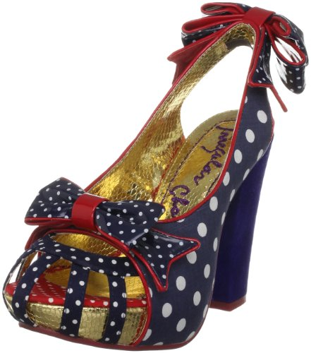 Irregular Choice Women's Aphrodite Navy/White Platforms Heels 4004-4C 5 UK, 38 EU