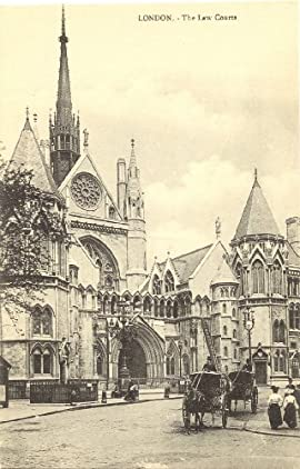 1910 Vintage Postcard The Law Courts - London England UK