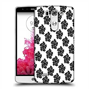 Snoogg Black Floral Pattern Designer Protective Phone Back Case Cover For LG G3 BEAT