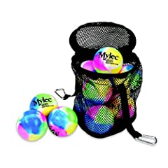 Buy Mylec Street Hockey Balls (Pack of 12), Multi Color by Mylec