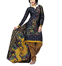 Foram Fashion Women's Cotton Unstitched Dress Material (FF11_Multi-Coloured_Freesize)