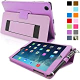iPad Mini & Mini 2 Case, Snugg™ - Smart Cover with Flip Stand & Lifetime Guarantee (Purple Leather) for Apple iPad Mini & Mini 2 with Retina