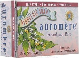 Auromere Ayurvedic Bar Soap Himalayan Rose - 2.75 Oz ( Pack of 2 )