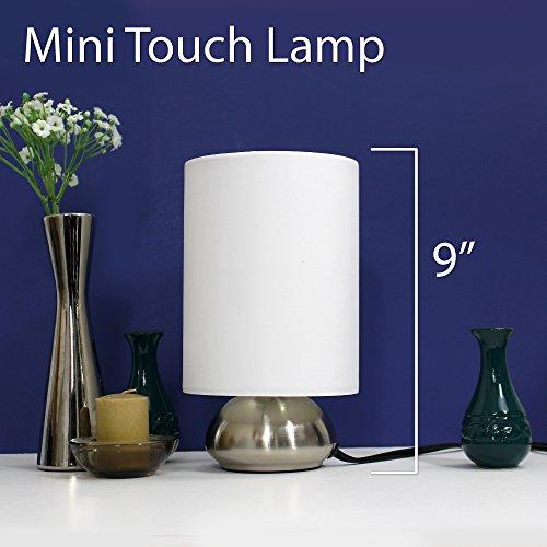 bedside lamp touch 2 pack fabric shades bedroom adjustable. Black Bedroom Furniture Sets. Home Design Ideas