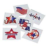 Lot Of 144 Patriotic American Flag Theme Patriotic Temporary Tattoos - 1.5