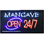 "Crystal Art 79488 ""Sign Of The Times"" Man Cave LED Lighted Sign, 10"" x 19"""