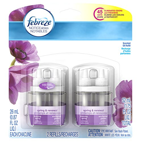 Febreze  Air Freshener, Noticeables Air Freshener,  Spring & Renewal Dual Refill Air Freshener (2 Count, 1.75 Oz) (Febreze Electric Air Freshener compare prices)