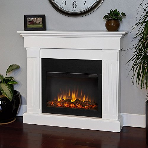 Real Flame 8020E-W Crawford Electric Fireplace, White (Electric White Fireplace compare prices)
